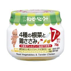 큐피이유식4종의뿌리와닭가슴살70g