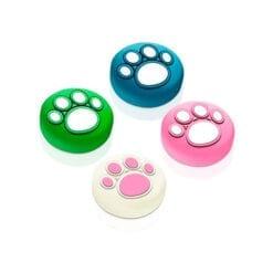 닌텐도 스위치 조이콘 아날로그 스틱 커버 swich joy con switch lite용 실리콘 고양이 발바닥 4개 세트초록파랑핑크화이트