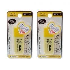 4991277185346 포켓 몬스터 nicoichi 니코이찌 테이프 피카츄 옐로우 2개1세트