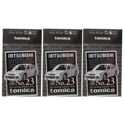 516 tomica 비닐 스티커 미쓰비시 랜서 gsr evolution3 3개1세트